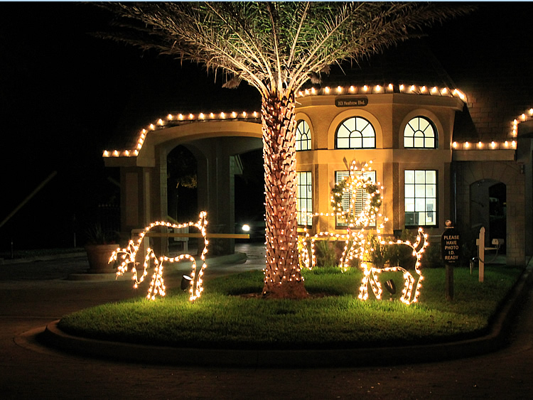 Exterior decor portfolio miller lights inc for Professional outdoor christmas decorations